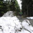Hanka tamtéž (všimněte si zbytků sněhu lemující silničku)