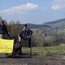 Luděk s vozíkem a Pavel