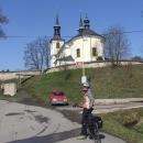 Míla před Orlickým kostelem v Letohradě