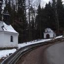 Křížová cesta při stoupání nahoru na Andrlův Chlum