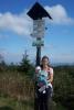 Markéta s Víťou na vrcholu Velké Deštné (1115 m.n.m.)