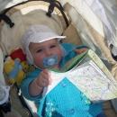 Víťa - cestovatelské geny se nezapřou :-)