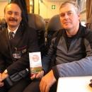 Ve vlaku se potkali Filipem Svobodou, naším známým, je také cyklista a spisovatel.