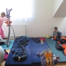 Ráno u Járy s Janou. Děti trénují :-)