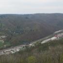 Adamov a údolí Svitavy z výšky