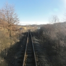 Výhled z posledního vagónu