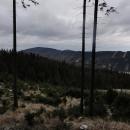 Jeseníky v lednu. Ta hora vlevo je Biskupská kopa.