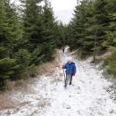 Kolem 900 metrů nad mořem začíná sněhový poprašek...