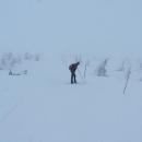 Na hřebeni Studniční hory - ještě že jsou tady ty tyče