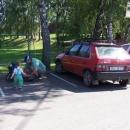 Auto zaparkováno ve stínu a výlet může začít