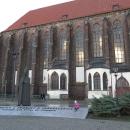 Cestou míjíme další kostel, Wroclaw (neboli Vratislav) je opravdu město kostelů