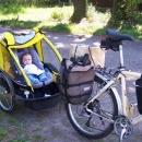 Malý cyklista na Červenovodském sedle