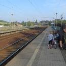 V Přibyslavi v pátek podvečer z vlaku vystupujeme sami :-)