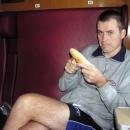 Snídaně ve vlaku