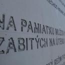 Na památku mužů a žen zabitých na útěku do svobody