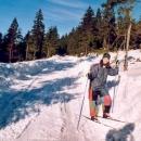 Cestou ze Suchého vrchu na sedýlko - důkaz o sněhové vrstvě