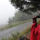 """O kousek dál obdivujeme (bohužel dalekohled je už rozbitý) """"nádherná"""" panoramata."""