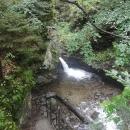 Vodopády Stříbrného potoka si bohužel moc neužíváme, protože při hledání kešky šlápneme s Víťou do vosího hnízda. Výsledek - Markéta 9 žihadel, Víťa 4 žihadla.
