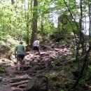 Nejvyšší hora Žďárských vrchů Devět skal dá zabrat. Jdeme raději pěšky.