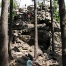 Takto vypadá Děvět skal (836 m.n.m.)