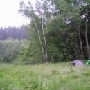 Nocleh v údolí Chrudimky, v noci zcela nečekaně pršelo