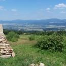 Výhled od Kašparovy chaty do Polska