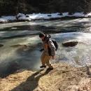Luděk zkouší sílu ledu