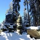 Vrchol Kamence, nejvyšší hora české strany Novohradek