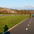 A tohle už je známější pohled z cyklostezky do Zábřeha